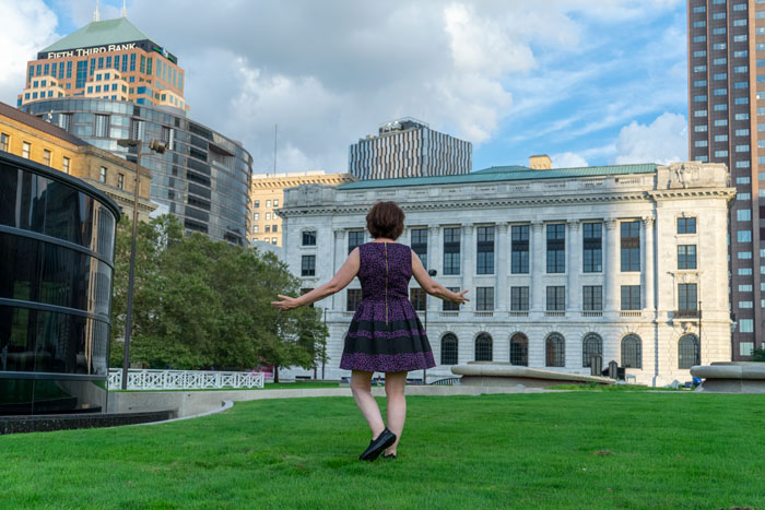 Beth Yurich in Downtown Cleveland