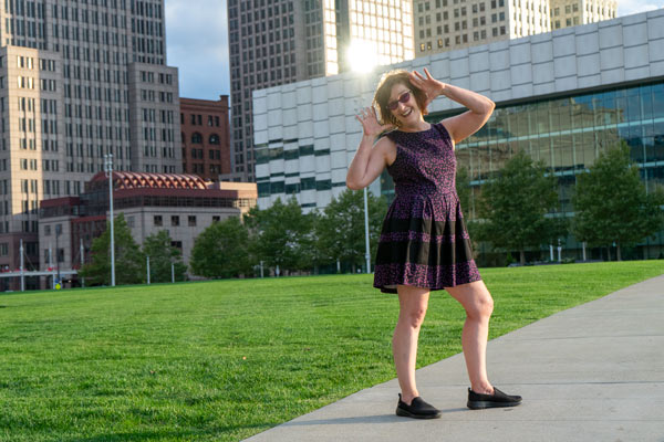 Cleveland Ohio Downtown on Mall C