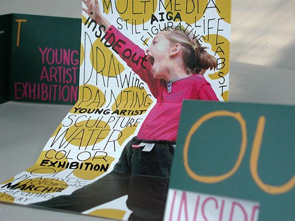 AIGA event invitation for Young Artist Exhibition