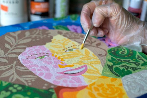 acrylic pattern painting